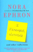 I Remember Nothing Book Cover